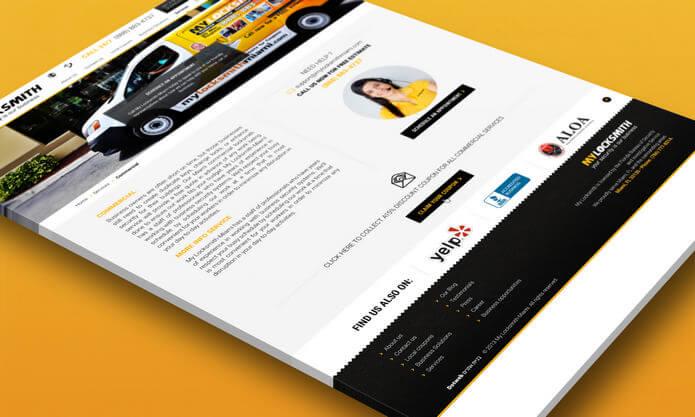 עיצוב אתר אינטרנט עבור MYLOCKSMITH