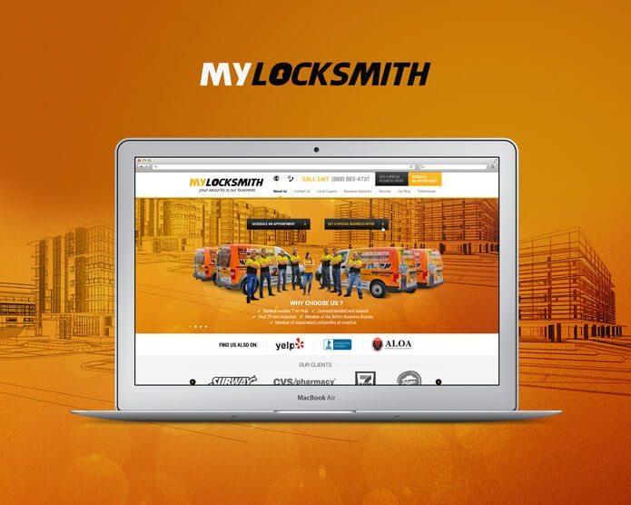 בניית אתרים MyLocksmith Miami