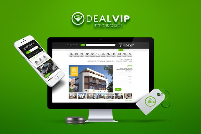 עיצוב אתרים - חוויית משתמש DealVIP