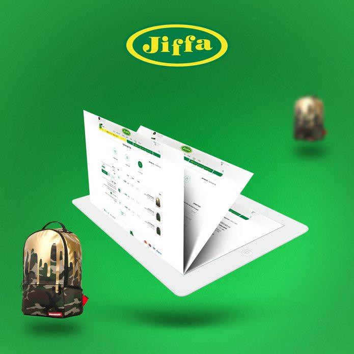 עיצוב חנות וירטואלית ל JIFFA