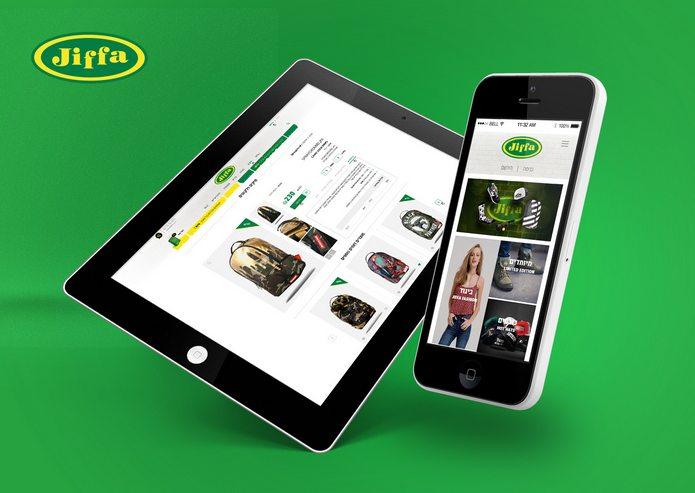 חנות וירטואלית ואפליקציה ל JIFFA