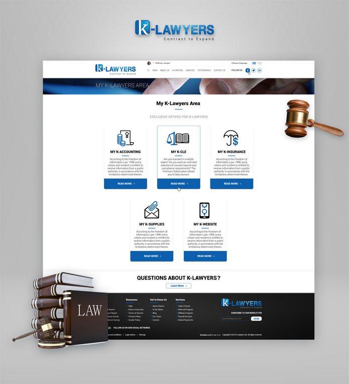 עיצוב אתר ל LAWYERS