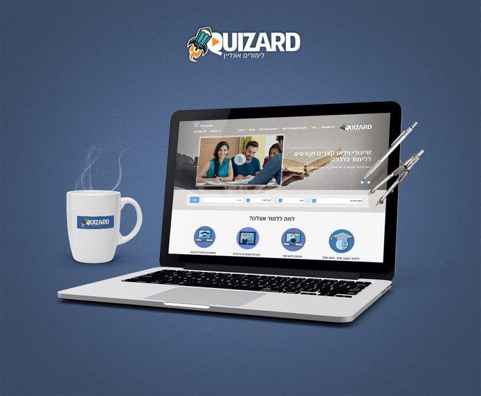 בניית UX / UI עבור QUIZARD
